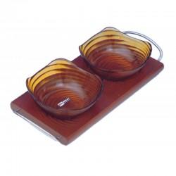 Ορντεβιέρα/Ξηροκαρπιέρα ξύλο/γυαλί 2 θέσεων Karvounis 488