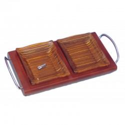 Ορντεβιέρα/Ξηροκαρπιέρα ξύλο/γυαλί 2 θέσεων Karvounis 427