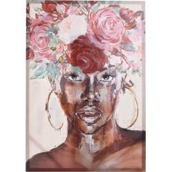 Πίνακας καμβάς γυναικεία φιγούρα/λουλούδια 70χ100 INART 3-90-242-0192