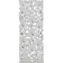 Διακοσμητικό τοίχου ξυλόγλυπτο αντ.λευκό 35χ2χ90 INART 3-70-242-0018