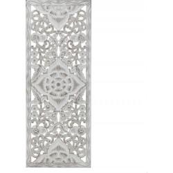 Διακοσμητικό τοίχου ξυλόγλυπτο αντ.λευκό 35χ2χ90 INART 3-70-242 -0019