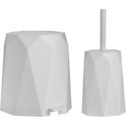 Πιγκάλ και κάδος απορριμάτων λευκό PL ΣΕΤ/2τεμ INART 6-65-558-0020