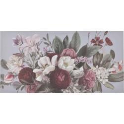 Πίνακας σε καμβά λουλούδια πολύχρωμος 60x3x120cm Inart 3-90-242-0241