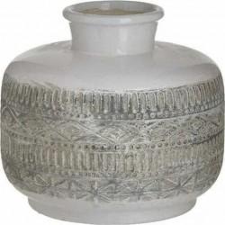 Βάζο κεραμικό αντ.λευκό/μπεζ Δ18χ18 INART 3-70-685-0227