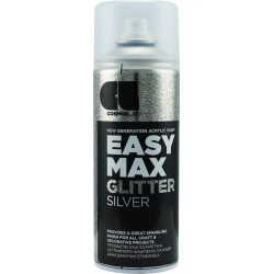 Χρώμα βαφής σε σπρέι EASY MAX GLITTER SILVER 400ml COSMOS LAC 8910