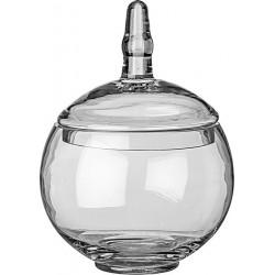 Γυάλα στρογγυλή διάφανη με καπάκι 15x23 εκ JK Home Decoration 55030