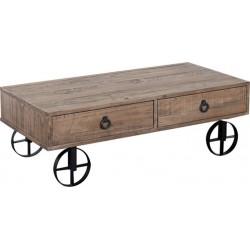 Τραπέζι σαλονιού Natural 120Χ60Χ40cm  Inart 3-50-009-0009