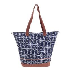 Τσάντα υφασμάτινη μπλε/κεραμιδί 45χ15χ35/60 BLE INART 5-42-304-0054