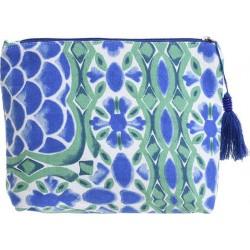Τσαντάκι υφασμάτινο μπλε/πράσινο 24χ20 BLE INART 5-42-304-0030