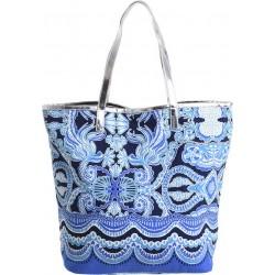 Τσάντα υφασμάτινη μπλε/τυρκουάζ 48χ18χ41/63 BLE INART 5-42-304-0027