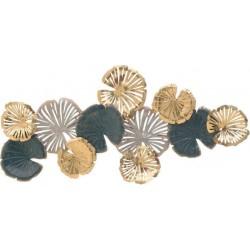 Διακοσμητικό τοίχου μεταλ.χρυσό/πράσινο 117χ6χ57 INART 3-70-447-0128