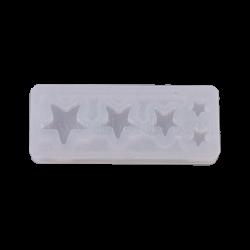 """Καλούπι σιλικόνης για rezin  """"αστεράκια """"  4Χ1,50εκ  Whispers  G008-23"""