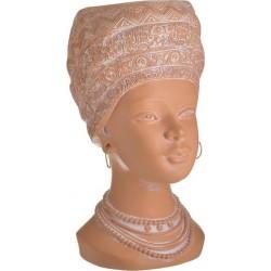 Κασπώ resin γυναικεία προτομή κεραμιδί 17χ20χ32 INART 3-70-146-0432