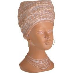 Κασπώ resin γυναικεία προτομή κεραμιδί 14χ16χ26 INART 3-70-146-0433