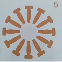 Στένσιλ  Whispers  13 x 13  Kωδ. SQ-05