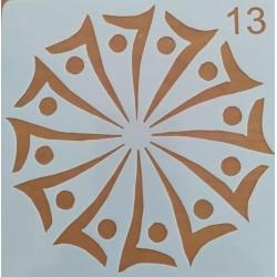 Στένσιλ  Whispers  13 x 13  Kωδ. SQ-13