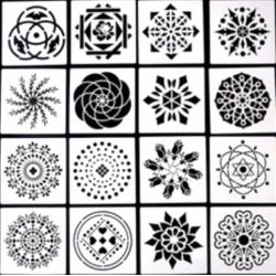 Στένσιλ  set/16  Whispers  13 x 13  Kωδ. WH0152-95