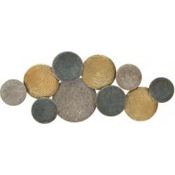 Διακοσμητικό τοίχου μεταλ.κύκλοι 114χ5χ48 INART 3-70-447-0173