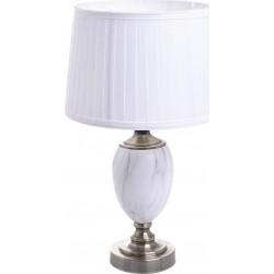 Λάμπα μεταλλ. λευκό/μπρονζέ με πλισέ καπέλο Δ30χ53 INART 3-15-958-0016