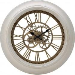 Ρολόι τοίχου πλαστικό αντικέ εκρού/χρυσό Δ51χ5 INART 3-20-925-0010