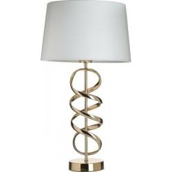 Λάμπα μεταλλικός χρυσός έλικας/λευκό καπέλο Φ30χ55 INART 3-15-741-0022