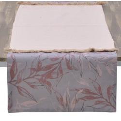 Τραβέρσα βελούδινη ροζ/χρυσό  40χ140 INART 3-40-359-0038