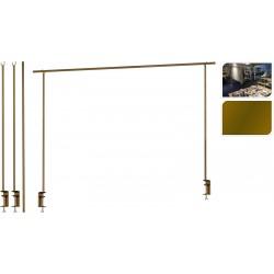 Πλαίσιο διακοσμητικό  πτυσσόμενο για στολισμό τραπεζιού μεταλλικό χρυσό 135/250εκ JK Home Decoration 912207