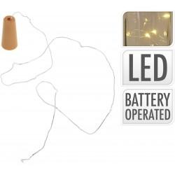 Πώμα Μπουκαλιού με 8 LED/warm  Φωτάκια - 75cm  JK Home Decoration 283093