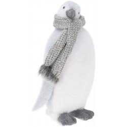 Πιγκουινάκι φελιζόλ γκρι/λευκό  15Χ13,5Χ33 εκ JK Home Decoration 007627-Β