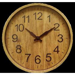 Ρολόι τοίχου PL απομίμηση ξύλου 30εκ JK Home Decoration 583902Β