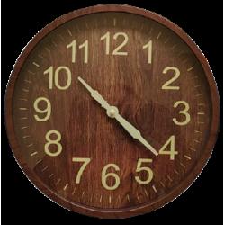 Ρολόι τοίχου PL απομίμηση ξύλου 30εκ JK Home Decoration 583902A