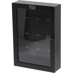 Κλειδοθήκη μαύρη  9 θέσεων ντουλάπι 19x60x27 JK Home Decoration 018975
