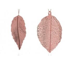 Στολίδι φύλλα  σετ/2 ροζ χρυσό JK Home Decoration 056703-Β