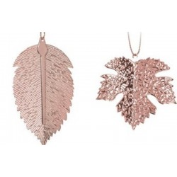 Στολίδι φύλλα  σετ/2 ροζ χρυσό JK Home Decoration 056703-D