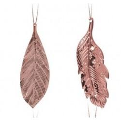 Στολίδι φύλλα  σετ/2 ροζ χρυσό JK Home Decoration 056703-A
