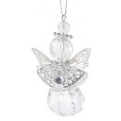 Αγγελάκι με κρύσταλλο PL ασημί φτερά  5Χ7,50 εκ JK Home Decoration 115516-D