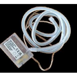 Σωλήνα λαμπάκι (rope light)  120 led μπαταρίας 1 μέτρο λευκό/ψυχρό JK Home Decoration 675146