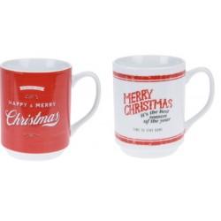 Κούπες χριστουγεννιάτικες πορσελάνη σετ/2 τεμ 320ml JK Home Decoration 891373-Β